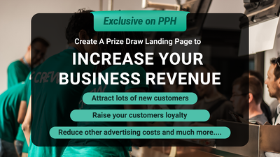 Attract new customers by creating a viral prize draw web page