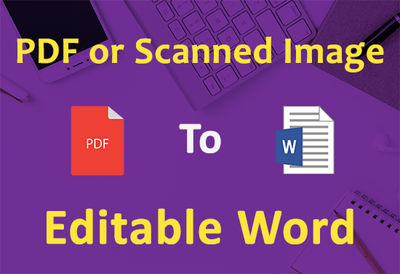 Convert PDF Or Scanned Image To Word Or Excel