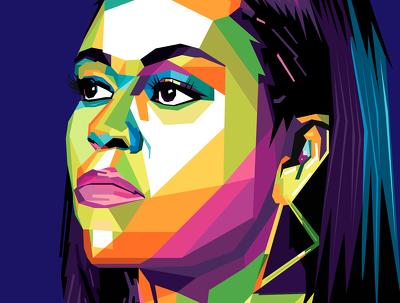 Draw your portrait on wpap pop art style