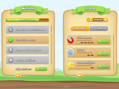 Design a catchy USER INTERFACE of mobile games and applications