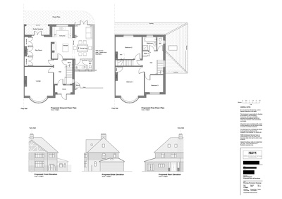 Draft into AutoCAD 2 Floor Plans & 4 Elevations to scale
