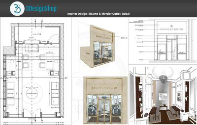 Do interior rendering of shop