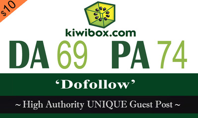 "Write and publish UNIQUE Guest Post on ""KIWIBOX"" DA-94"