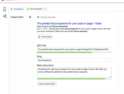Do yoast onpage SEO in WordPress