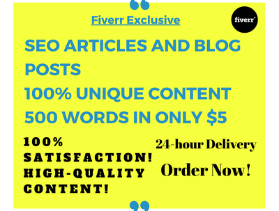 Write a 500 words amazing SEO article within 24 hours