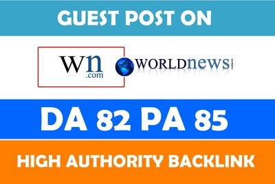 Write and Publish your post on News site World News DA 84