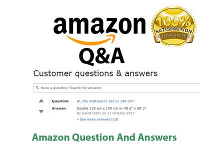 Post 20 Amazon Questions  from Verified Accounts