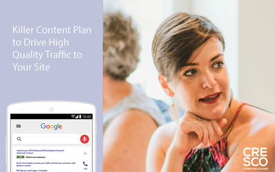 Create a content plan that will drive traffic to your website