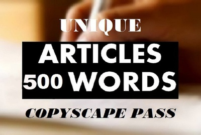 Write An Original 500 Word ARTICLE