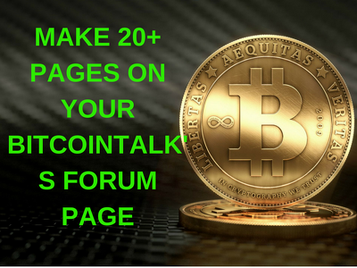 Do Comments 20 Comments On Your Bitcointalk Forum Page