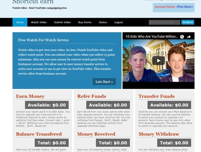 Develop money making website