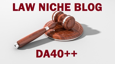 Guest post on Law niche DA40 blog