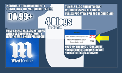 Create and Support 4 Tumblr or Wordpress Personal Blog Networks
