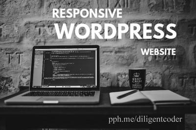 Create WordPress Blog / Website With Woocommerce