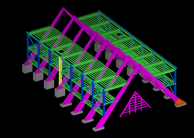 Model and detail your steel structure per ton