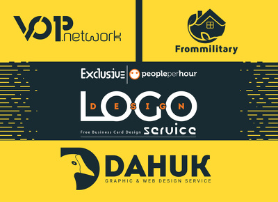 Professional Logo Design with free business card for your brand