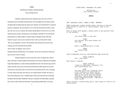 Convert your short screenplay to Final Draft format