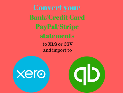 Convert your Bank/Credit Card/PayPal/Stripe statements to CSV