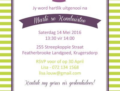Design a unique event invitation for any special event