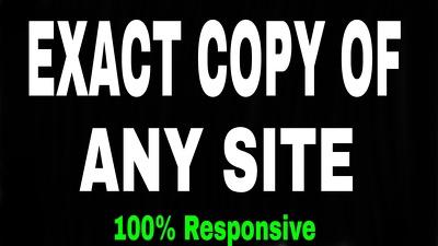 Exact Copy Website In HTML Template