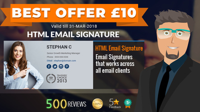 Design and code your HTML email signature for £10 in 2 hours
