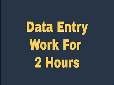 Do all type of data entry works  for 2 hours
