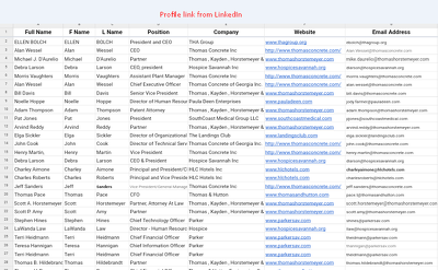 Generate 100 profile link from linkedIn research