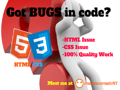 Fix your HTML/CSS bugs or errors