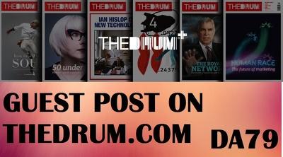 Publish a guest post on Thedrum.com DA 79 Blog