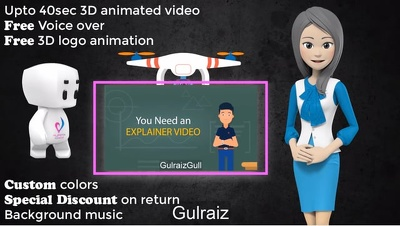 Create 3D and 2D Animation Explainer whiteboard promo videos