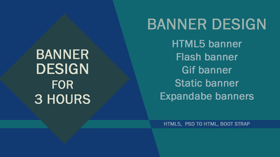Do  animated banner in several sizes for 4 hours