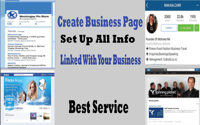 Create and manage professional business page on 5 social media