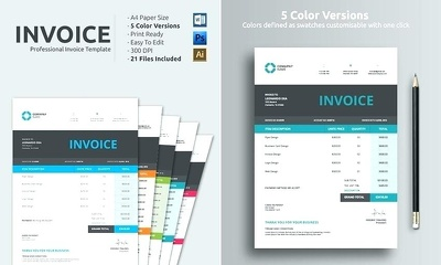 Create a professional Invoice template for your business