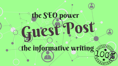 Write & publish SEO friendly and engaging 2 guest posts