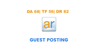 Publish a guest post on ActiveRain.com - DA68, TF56, DR82