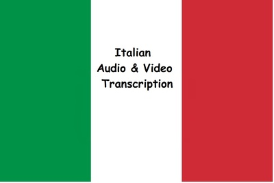 Transcribe 20 minutes of Italian audio or video