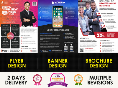 Design a professional FLYER, a BANNER or a BROCHURE