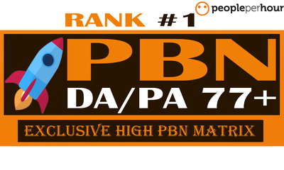 Achieve Top Google Ranking With 50 High DA/PA 77+ PBN BLOGs