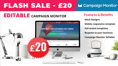 design and code editable campaign monitor email for £20