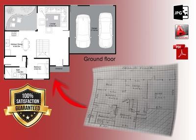Draw an architectural floor plan