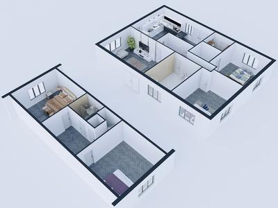 Convert 2d plan to 3d model