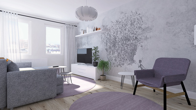 Create a 3D interior architectural walkthrough animation video