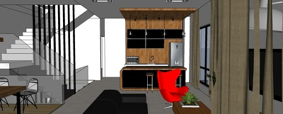 Build a sketchup model (size of an apartment unit)