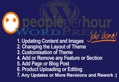 Do 1 hour of updates or customization to your WordPress website