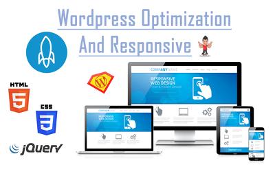 Make wordpress optimization and resposive