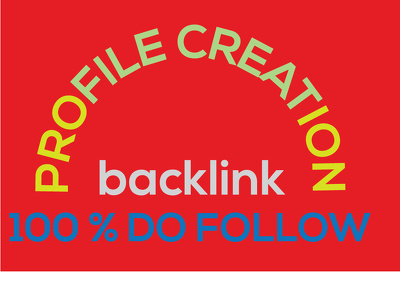 Do 50 social profile creation backlinks