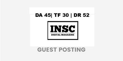 Publish a guest post on INSC Magazine -  DA45, TF30, DR52
