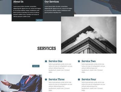 Provide a responsive business website on Divi theme (live demo