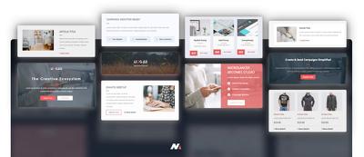Create 5 email marketing templates - MailChimp, GetResponse etc.