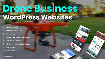 Offer a Drone Photography Business working theme in Wordpress.